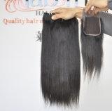 Malaysian Sedoso Virgem Reta Extensões de cabelo