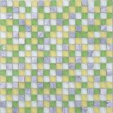 Qj008 Multi-Color orientales Mosaico de la pared de vidrio verde adhesivo para cocina