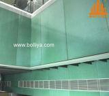 Panneaux composés en aluminium oranges en bois vert-foncé pour le revêtement