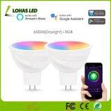 5W MR16 Tuya APP controleerde Slimme Bol WiFi voor de Verlichting van het Huis Compatibel met Alexa