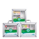Caixa de Armazenamento de Medicina de alumínio Quadrada a cor verde