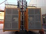 Sc200200 doppio caricamento di altezza della gabbia 100m gru del passeggero da 2 tonnellate