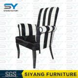 Silla de acero del ocio del cuero de la silla del hotel de la silla de los muebles antiguos