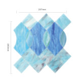 Tuile de mosaïque bleue en verre souillé de matériau de construction pour la salle de bains