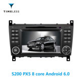 Timelesslong S200 Plate-forme Android 6.0 2DIN Lecteur de DVD de l'autoradio pour Mercedes Benz W203 (2004-2007) avec construit dans Carplay (TID-W093)