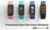 Braccialetto astuto del video di pressione sanguigna dell'inseguitore di salute dell'ossigeno di frequenza cardiaca