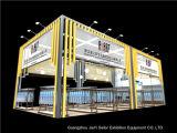 Строитель столба стойки знамени торговой ярмарки