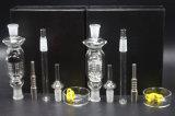 Zwart ontruim 6 Waterpijpen van het Glas van de Uitrusting van de Collector van de Nectar van Perc van de Boom van het Wapen N060