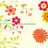 100%Polyester le chrysanthemum Pigment&Disperse a estampé le tissu pour le jeu de literie