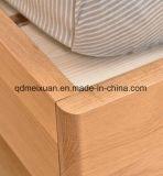 Camas matrimoniales modernas de la base de madera sólida (M-X2347)