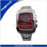 Relógio de quartzo da forma dos homens com a fita de aço inoxidável