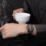 Belbi einfaches ultradünnes Edelstahl-Band-wasserdichte Quarz-Mann-Armbanduhr