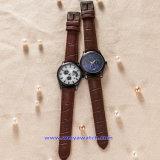 Montres-bracelet faites sur commande de mode de montre de quartz de logo pour les dames des hommes (WY-17009A)