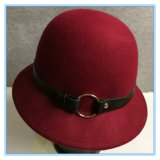 Шлем зимы подающего Cloche войлока шерстей женщин способа