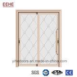 Première porte coulissante en aluminium en verre Tempered de sensation pour l'intérieur