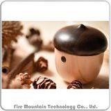J2 de Draagbare Mini Houten Sprekers van de Zak van de Noot Bluetooth met Mic