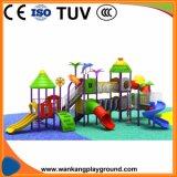 Terrain de jeux extérieur net tour les diapositives de Tunnel Play Station commerciale (WK-A71211D)