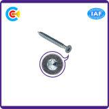 DIN/ANSI/BS/JISの炭素鋼かステンレス製の電流を通された鍋の6丸い突出部花によってさら穴を開けられるねじ
