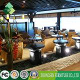 Tabelas da madeira contínua da mobília de Foshan Shunde e cadeiras do Rattan