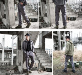 Green Outdoor Fights Wear-Resistant Multi-Pockets Military Pants with Double-Knee Design