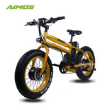 مزدوجة محرّك إطار العجلة سمين رخيصة كهربائيّة درّاجة بدون تلوّث