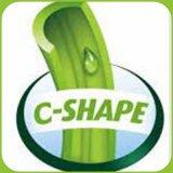 Grama artificial de alta qualidade com C Shape e sensação suave
