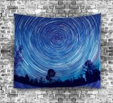 Herrliche Polyester-Digital gedruckte psychedelische sternenklare Himmel-Tapisserie (01P0001)