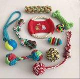 Haustier-Produkt-Baumwolseil-Hundespielwaren-Kauen-Tennis-Kugel