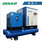 Compresor de aire eléctrico combinado del tornillo con la correa o directo conducido