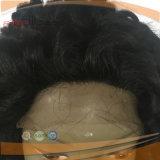 인간적인 곱슬머리 레이스 가발
