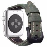 Cinturino di vigilanza italiano del cuoio genuino di stile dell'annata per Apple