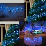 Cadena verde blanco y azul LED impermeable al aire libre en el interior de las luces de la cadena