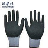 нитрила пены работы безопасности раковины Spandex 15g перчатка серого Coated
