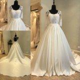Атласная белая плакатная бумага длинной втулки кружева устраивающих платье свадебные платья