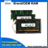 Ecc niet 256MB*8 het Geheugen van de RAM van de Uitrusting DDR2 4GB voor Laptop