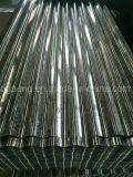 Preço duro cheio ondulado galvanizado prima do telhado do metal da folha 665mm