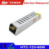 alimentazione elettrica di 12V 5A LED con le HTC-Serie della Banca dei Regolamenti Internazionali di RoHS del Ce