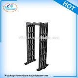 Barriere di sicurezza nere del metal detector di figura