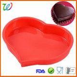 Moulages humains de gâteau de silicones de bougie de forme de coeur