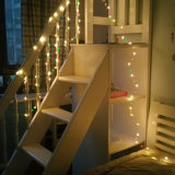 Micro luzes estrelados da corda do diodo emissor de luz, luzes feericamente impermeáveis do fio de cobre, luzes de lua a pilhas (incluído), para o casamento de DIY, partido, decorações da tabela, W morno