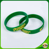 Fertigung gedrucktes Firmenzeichen-Mischfarben-Silikon-Armband