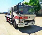 3 toneladas remolque grúa pequeña, plana Sinotruk camiones grúa de diapositivas