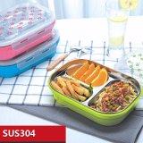 1100ml Container 22120 van het Voedsel van het Compartiment van de Doos van de Lunch van Bento van het roestvrij staal