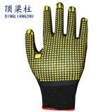 De in het groot Handschoenen van de Veiligheid van het Schuim van het Nitril met pvc Gestippelde Palm