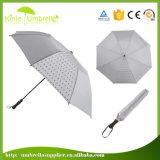中国の卸し売り21inch黒い昇進の2つのフォールドの傘