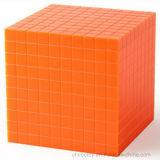 Brinquedos plásticos da instrução do cubo pequeno da base dez