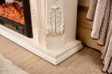 Cheminée découpée moderne de blanc de bordure