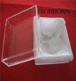 高品質の溶けることのための正方形の明確な水晶皿