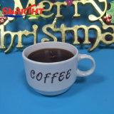 Свечка опарника кофейной чашки для подарка рождества