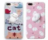 Squishy Cat 3D Cartoon teléfono caso para el iPhone7 7plus